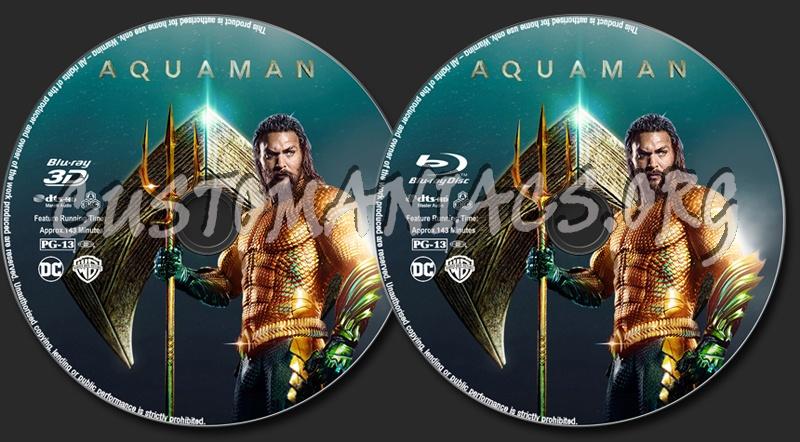 Aquaman blu-ray label