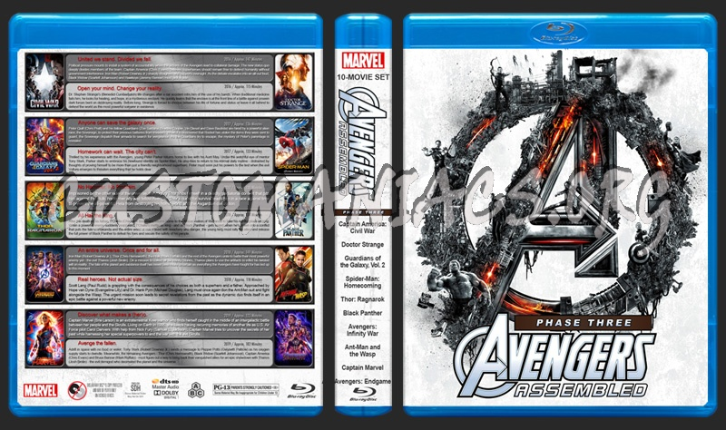 Avengers Assembled - Phase Three (10) blu-ray cover