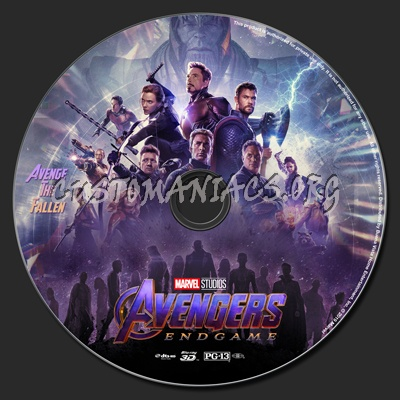 Avengers: Endgame (2D & 3D) blu-ray label