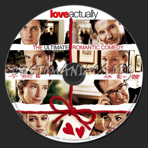 Love Actually dvd label