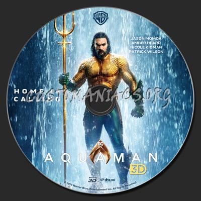 Aquaman (2018) 3D blu-ray label