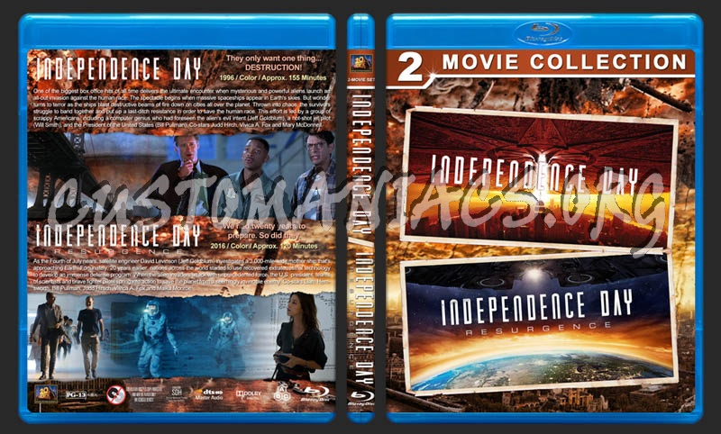 Independence Day Double Feature blu-ray cover