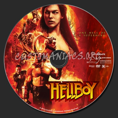 Hellboy (2019) dvd label