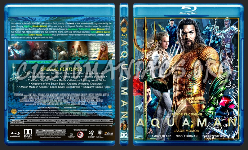 Aquaman blu-ray cover