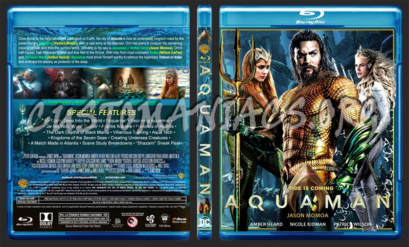 Aquaman (V2) blu-ray cover