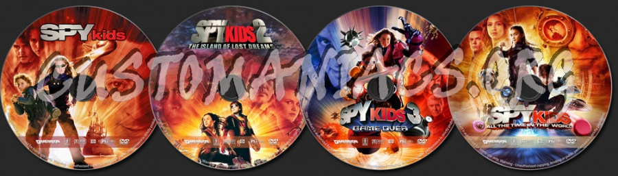 Spy Kids Collection dvd label