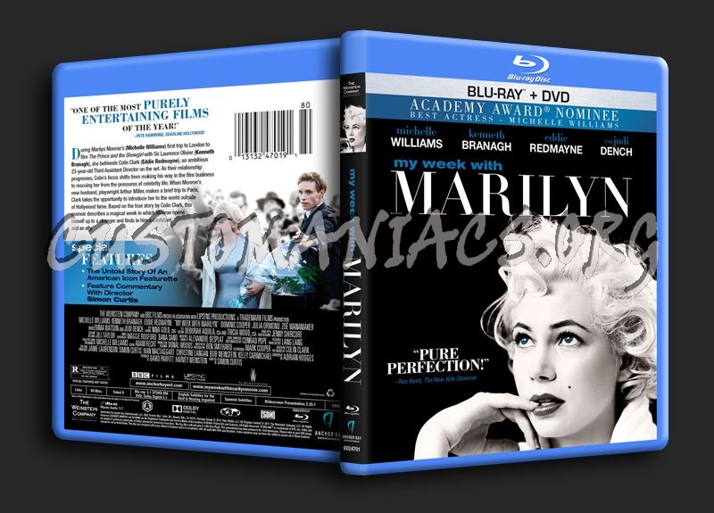 My Week With Marilyn blu-ray cover