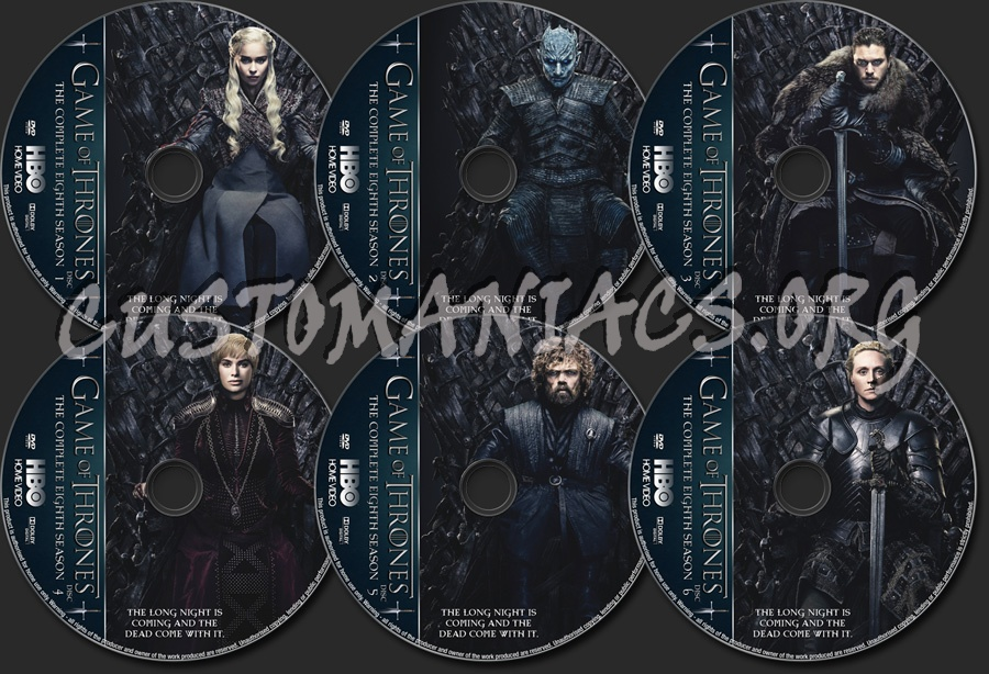 Game Of Thrones Season 8 dvd label