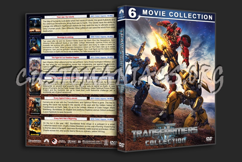 Transformers Collection (6) dvd cover