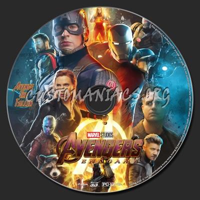 Avengers: Endgame (2D & 3D) blu-ray label