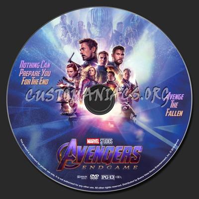 Avengers: Endgame dvd label