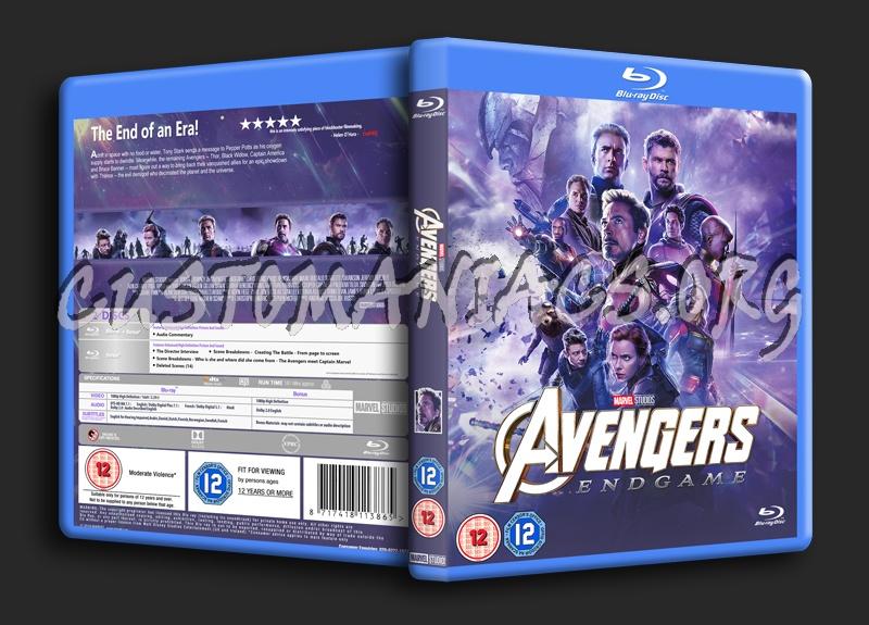 Avengers Endgame blu-ray cover