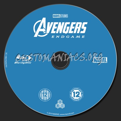 Avengers Endgame blu-ray label