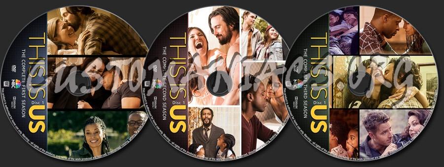This Is Us Seasons 1-3 dvd label