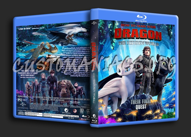 How To Train Your Dragon: The Hidden World blu-ray cover