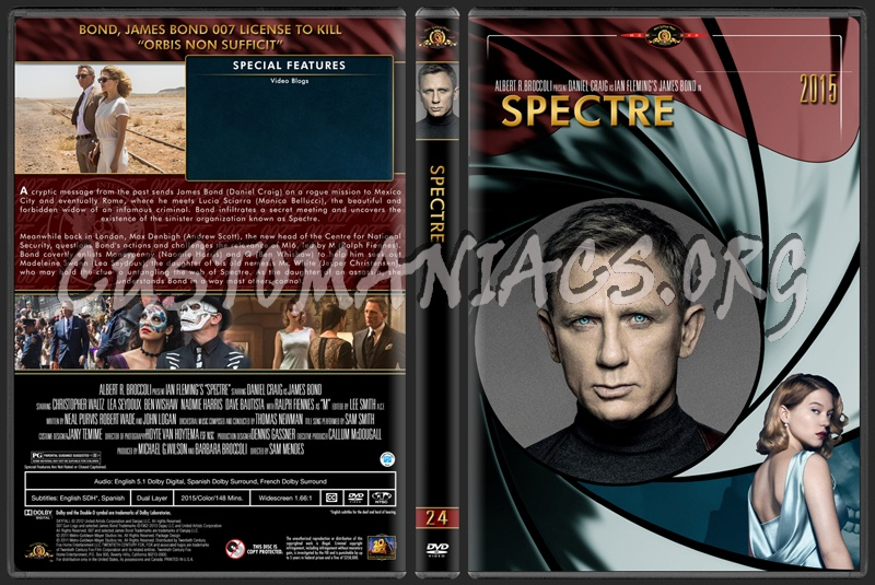 James Bond (007) Collection Spectre (24) dvd cover
