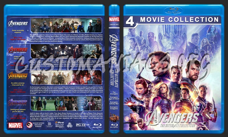 Avengers: The Ultimate Collection blu-ray cover - DVD Covers