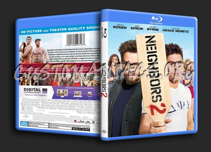 Neighbors 2 blu-ray cover