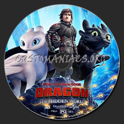 How To Train Your Dragon: The Hidden World (2D & 3D) blu-ray label