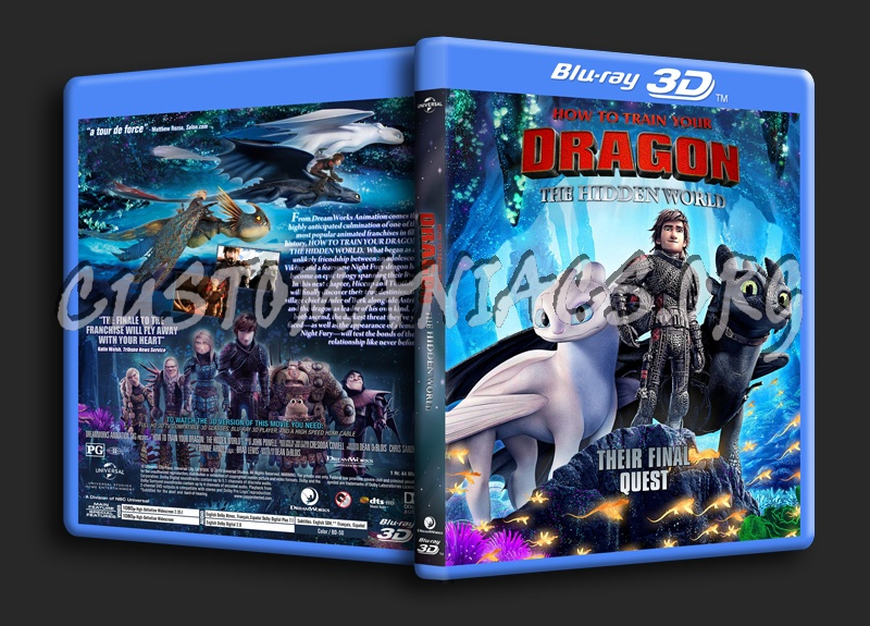 How To Train Your Dragon: The Hidden World 3D (2V) blu-ray cover