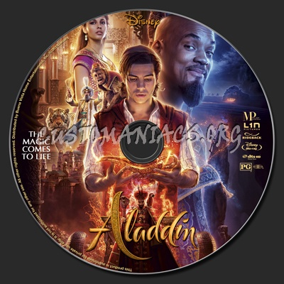 Aladdin 2019 blu-ray label