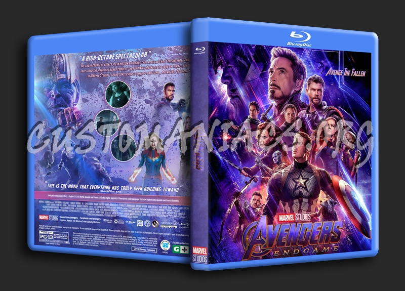 Avengers: Endgame blu-ray cover