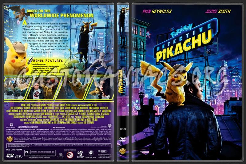 Pokémon Detective Pikachu dvd cover