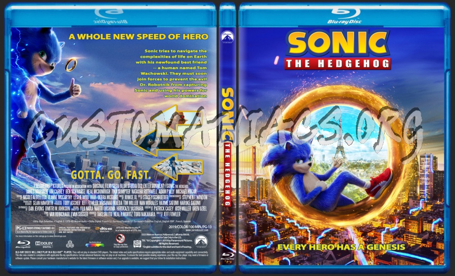Sonic The Hedgehog 2019 Blu Ray Cover Dvd Covers Labels By Customaniacs Id 257427 Free Download Highres Blu Ray Cover