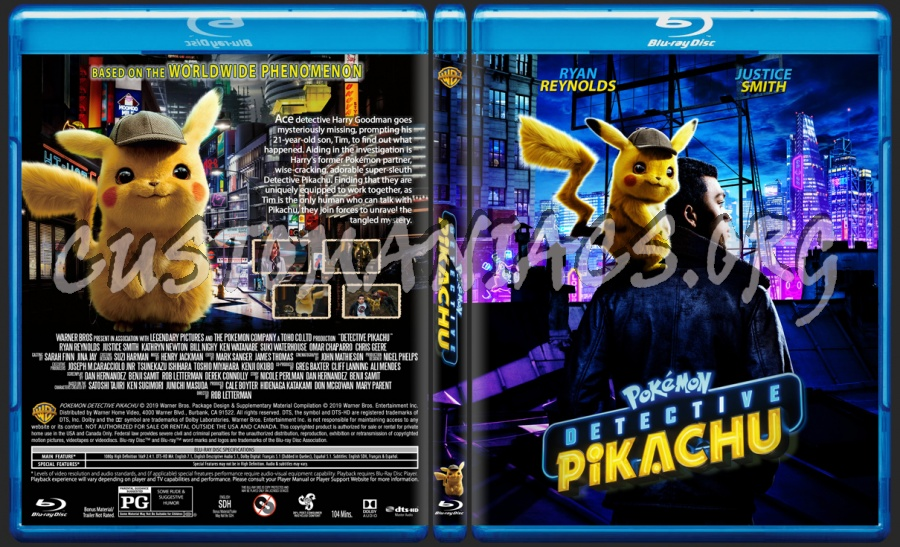 Pokemon Detective Pikachu 2019 Blu Ray Cover Dvd Covers Labels By Customaniacs Id 257428 Free Download Highres Blu Ray Cover