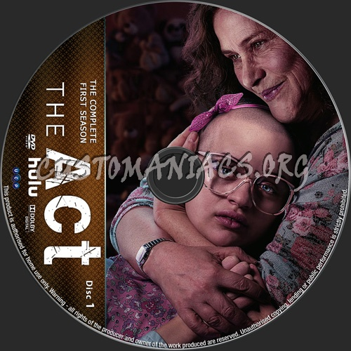 The Act Season 1 dvd label