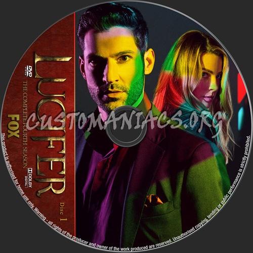Lucifer Season 4 dvd label