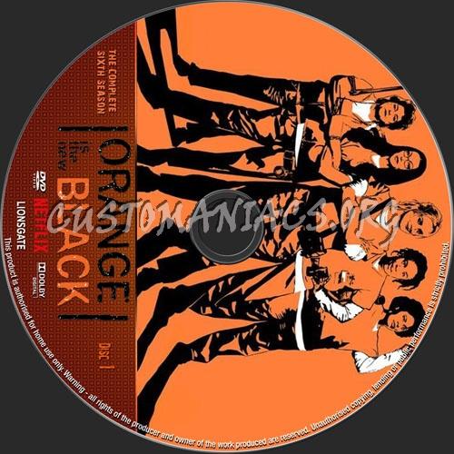 Orange Is The New Black Season 6 dvd label