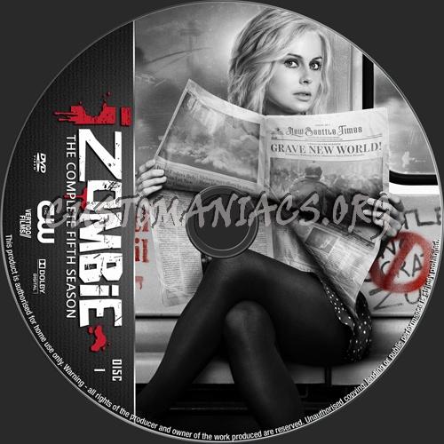 iZombie Season 5 dvd label