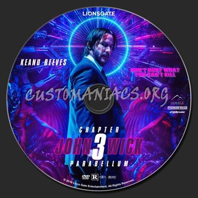 John Wick Chapter 3 - Parabellum dvd label