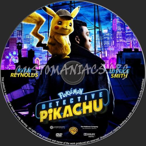 Pokemon Detective Pikachu 2019 dvd label