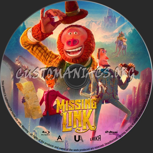 Missing Link blu-ray label