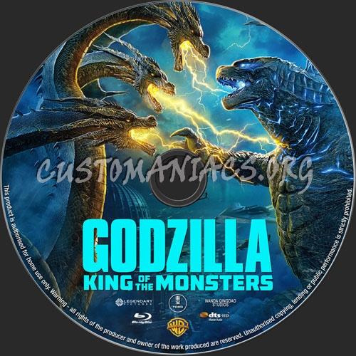Godzilla King Of Monsters 2019 blu-ray label