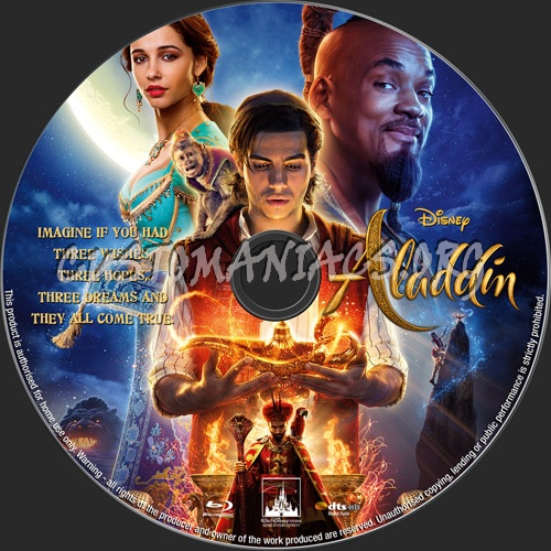 Aladdin(2019) blu-ray label