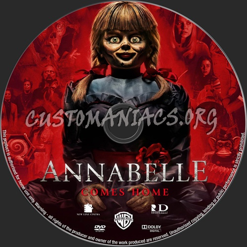 Annabelle Comes Home dvd label