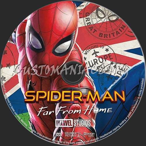 Spider-Man Far From Home dvd label
