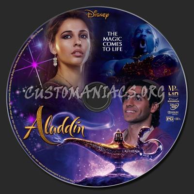 Aladdin 2019 dvd label