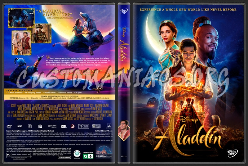 Aladdin (2019) dvd cover