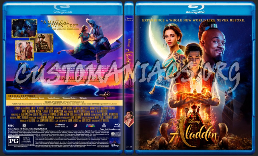 Aladdin (2019) blu-ray cover