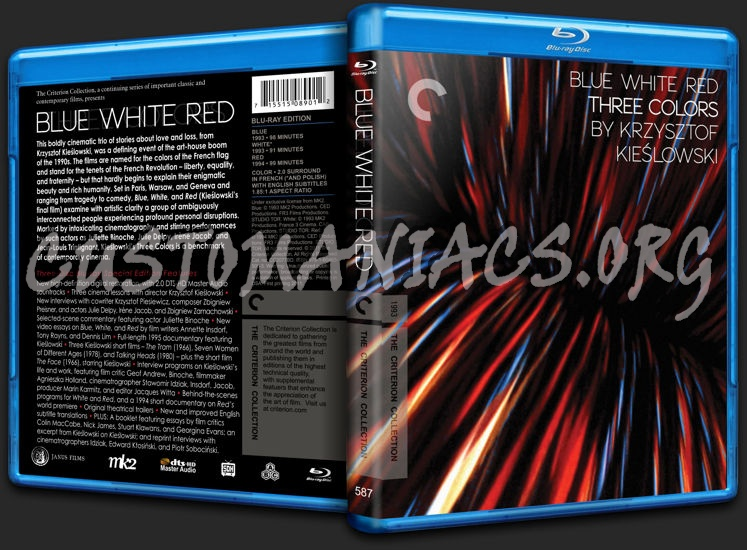 587 - Three Colors: Blue White Red blu-ray cover