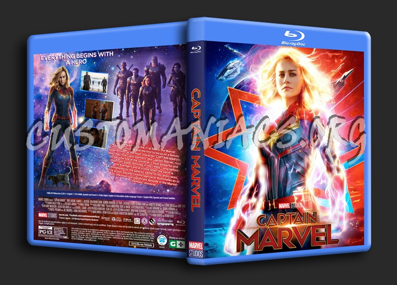 Captain Marvel blu-ray cover