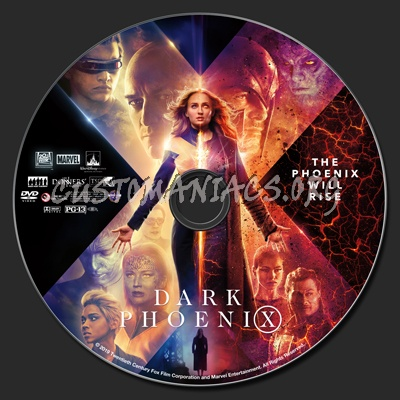 (X-men) Dark Phoenix dvd label