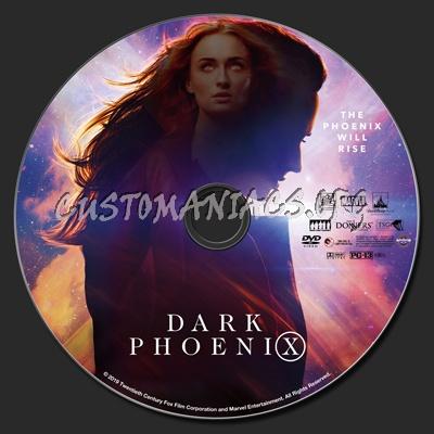 (X-men) Dark Phoenix dvd label
