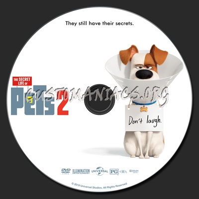 The Secret Life Of Pets 2 dvd label