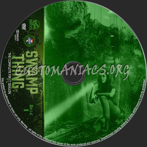 Swamp Thing Season 1 dvd label