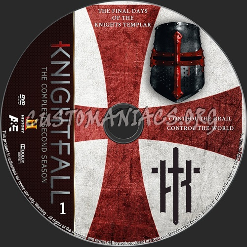 Knightfall Season 2 dvd label